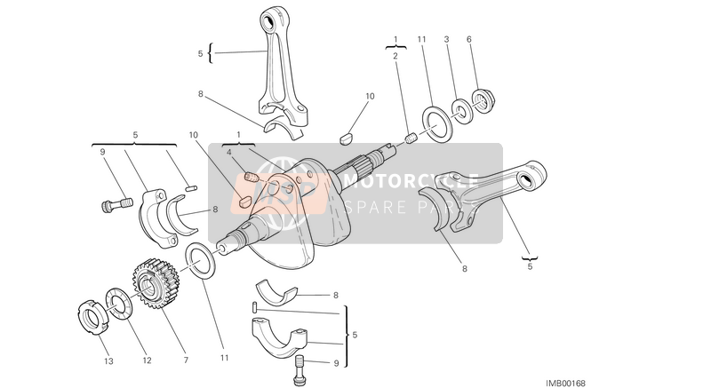 Ducati STREETFIGHTER 848 EU 2014 CRANKSHAFT  for a 2014 Ducati STREETFIGHTER 848 EU