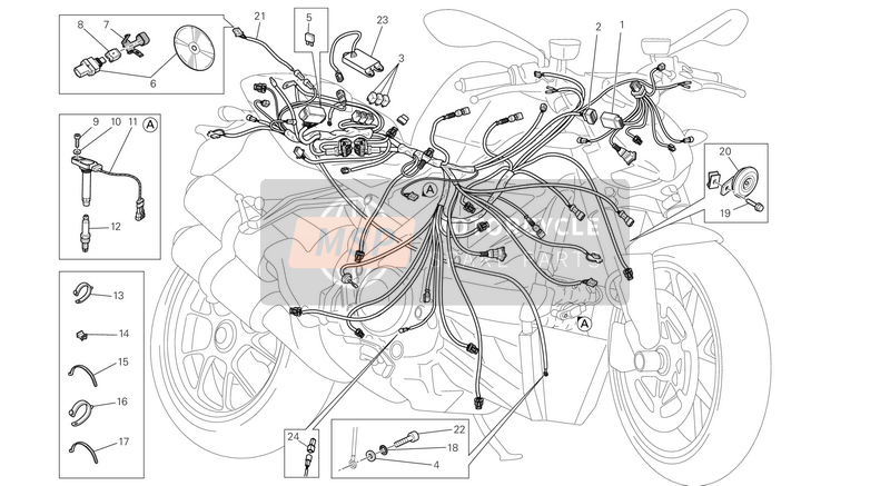 Ducati STREETFIGHTER 848 EU 2014 WIRING HARNESS  for a 2014 Ducati STREETFIGHTER 848 EU
