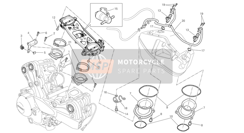 Ducati STREETFIGHTER 848 USA 2013 THROTTLE BODY  for a 2013 Ducati STREETFIGHTER 848 USA
