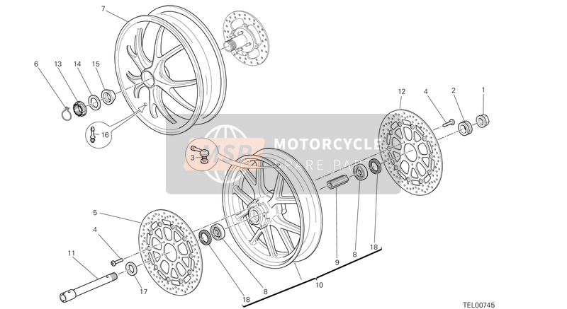 Ducati STREETFIGHTER 848 USA 2013 WHEELS  for a 2013 Ducati STREETFIGHTER 848 USA
