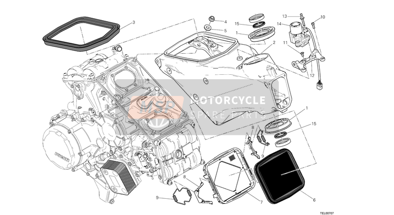 Ducati SUPERBIKE 1199 PANIGALE ABS EU 2013 FRAME  for a 2013 Ducati SUPERBIKE 1199 PANIGALE ABS EU