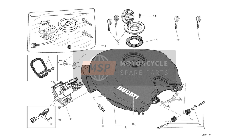 Ducati SUPERBIKE 1199 PANIGALE ABS EU 2013 TANK  for a 2013 Ducati SUPERBIKE 1199 PANIGALE ABS EU