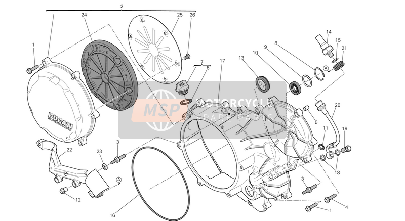 CLUTCH - SIDE CRANKCASE COVER