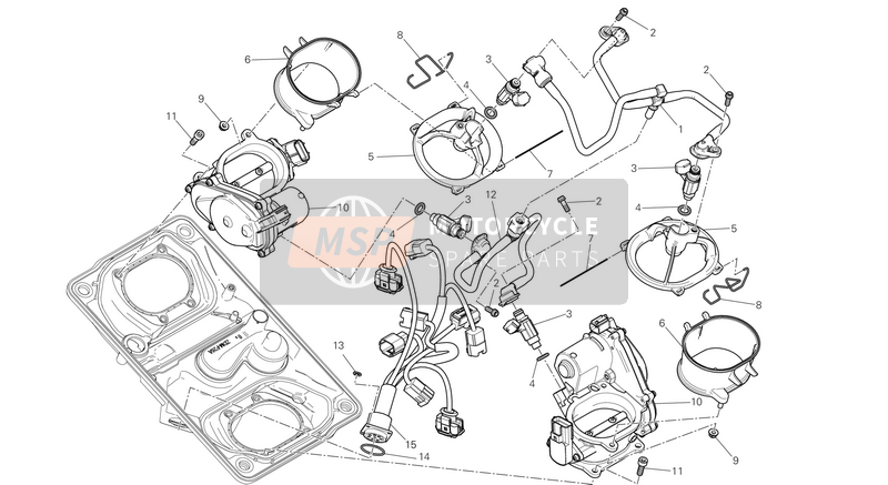 Ducati SUPERBIKE 1299 S ABS EU 2016 THROTTLE BODY  for a 2016 Ducati SUPERBIKE 1299 S ABS EU