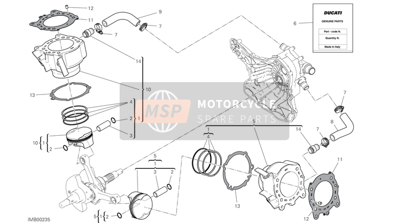 Ducati SUPERSPORT S EU 2017 CYLINDERS - PISTONS for a 2017 Ducati SUPERSPORT S EU