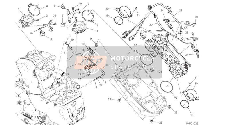Ducati SUPERSPORT S EU 2017 THROTTLE BODY  for a 2017 Ducati SUPERSPORT S EU