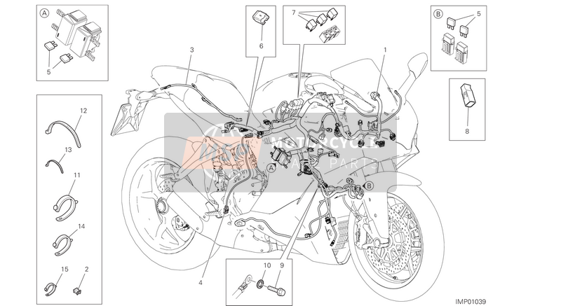 Ducati SUPERSPORT USA 2017 WIRING HARNESS  for a 2017 Ducati SUPERSPORT USA