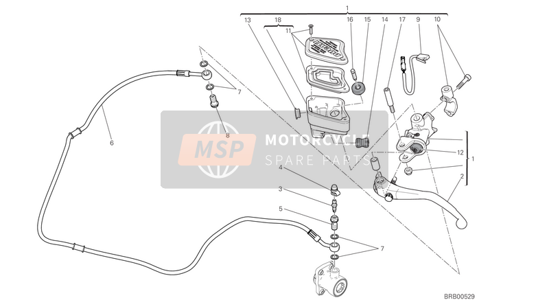 Ducati XDIAVEL USA 2018 CLUTCH MASTER CYLINDER  for a 2018 Ducati XDIAVEL USA