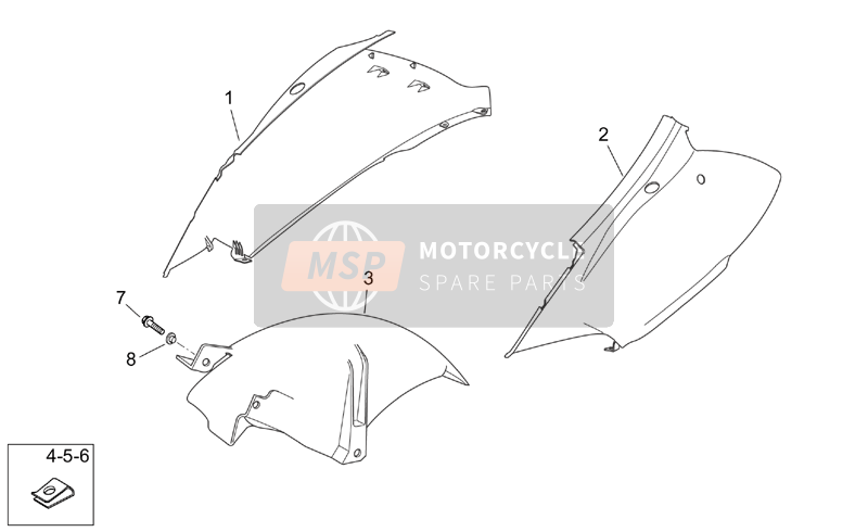 Aprilia Atlantic 125-200-250 2006 Rear body I for a 2006 Aprilia Atlantic 125-200-250