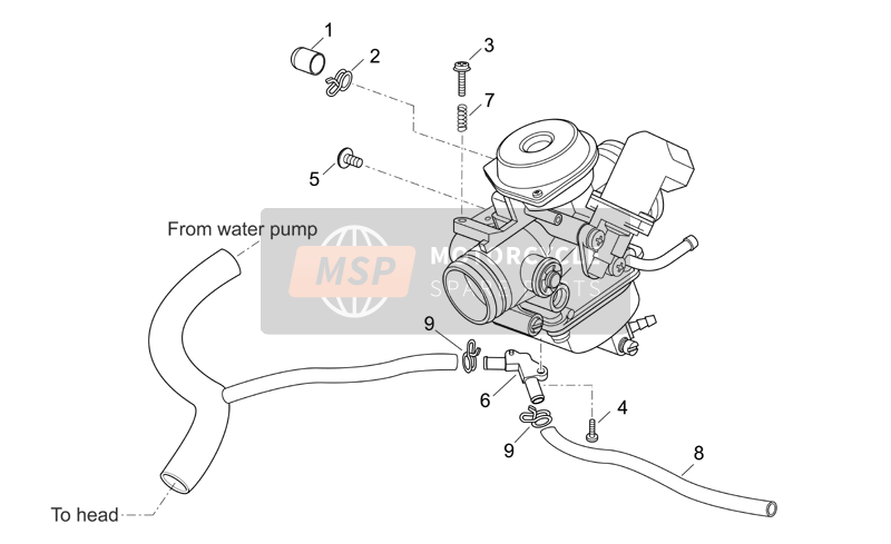 Aprilia Atlantic 125-250 2007 Carburettor III for a 2007 Aprilia Atlantic 125-250