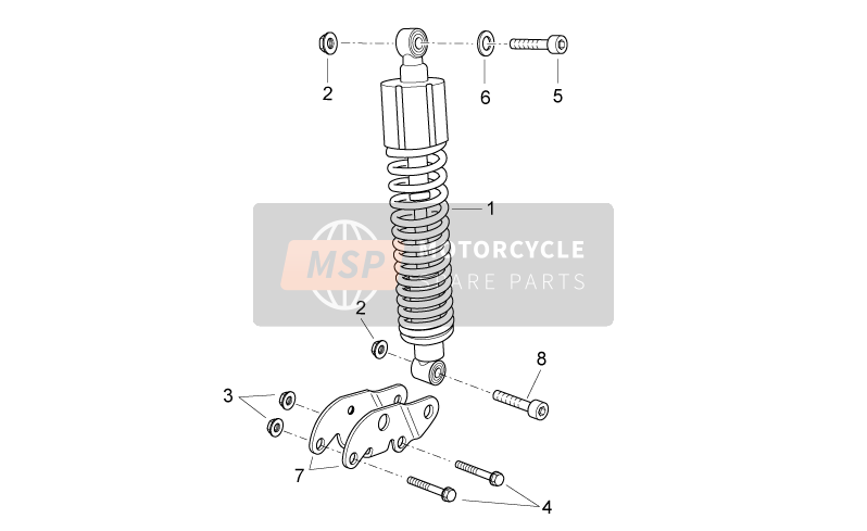 Aprilia Atlantic 300 2012 Rear shock absorber for a 2012 Aprilia Atlantic 300