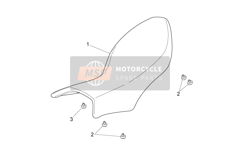 Aprilia Dorsoduro 750 ABS 2010 Saddle for a 2010 Aprilia Dorsoduro 750 ABS