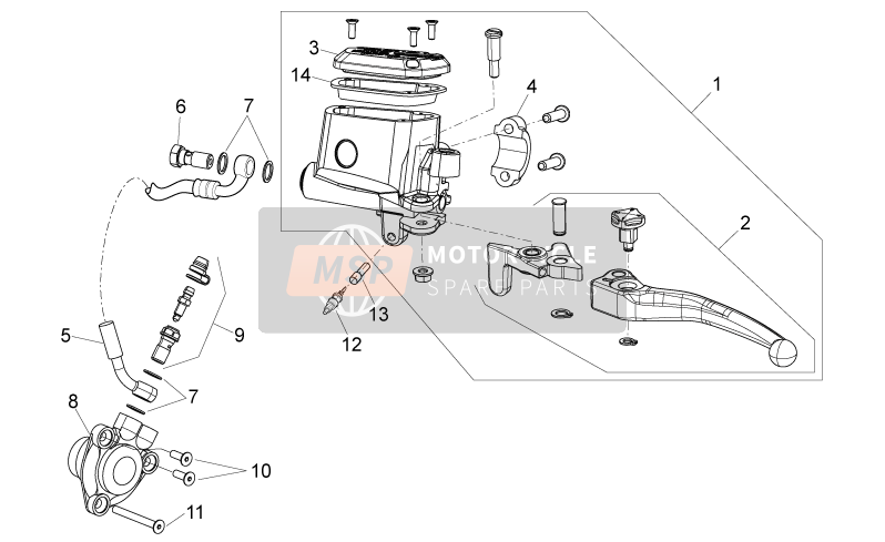 Aprilia Dorsoduro 750 ABS 2010 Clutch pump for a 2010 Aprilia Dorsoduro 750 ABS