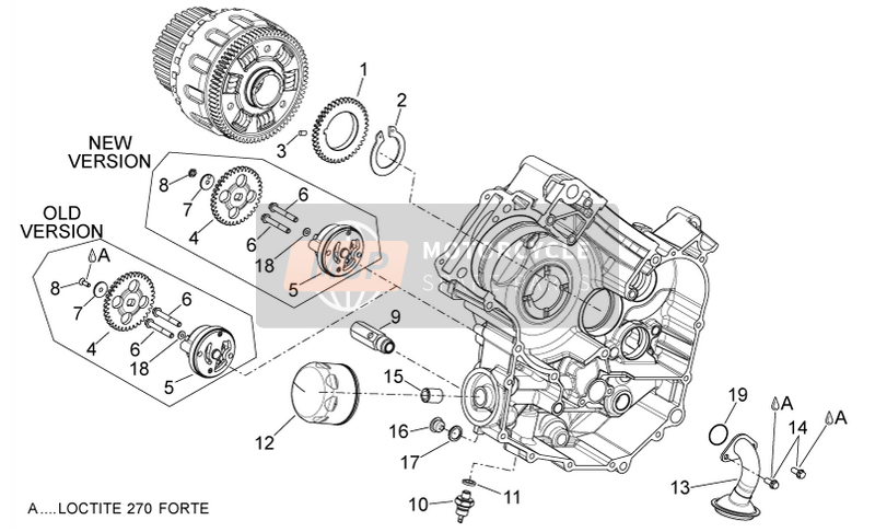 Aprilia Dorsoduro 750 ABS 2010 Oil pump for a 2010 Aprilia Dorsoduro 750 ABS