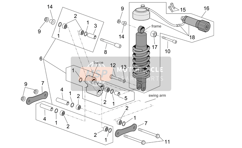 Connecting rod and shock absorber