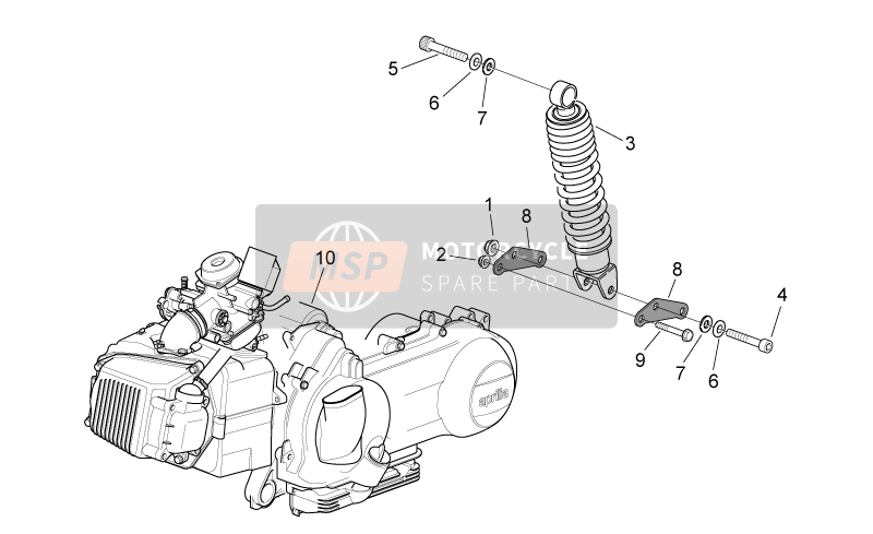 Engine - Rear shock absorber