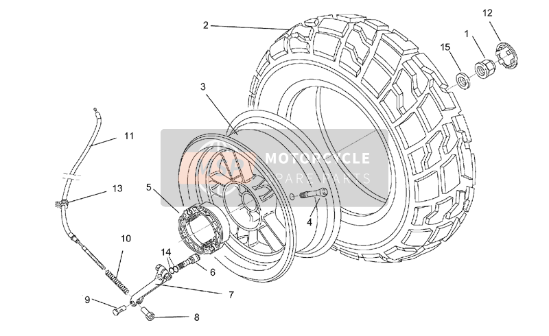 Rear wheel - drum brake