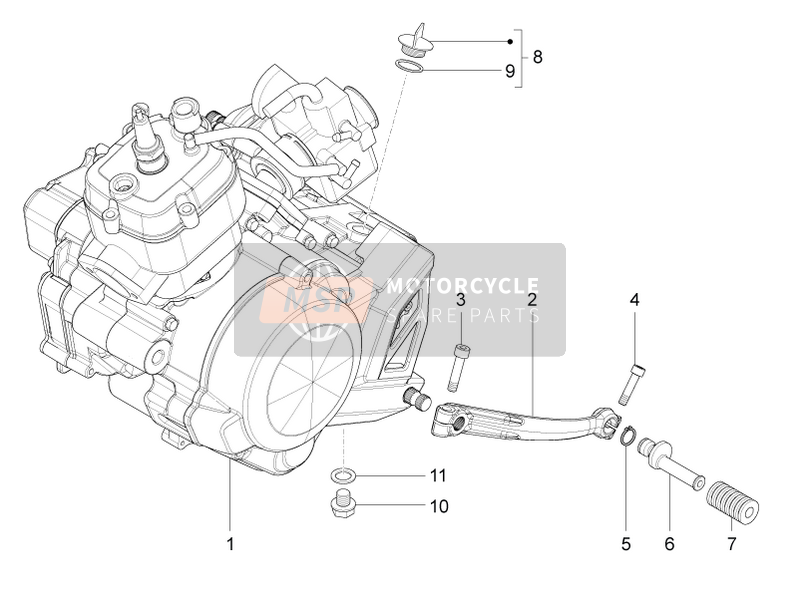 Engine-Completing part-Lever