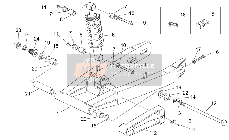 Swing arm - Shock absorber