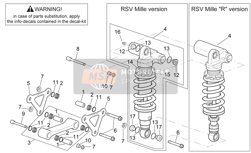 Connecting rod - rear shock abs.