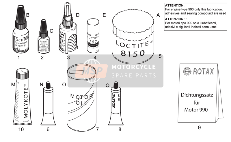 Sealing and lubricating agents