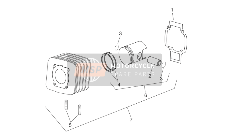 Cylinder with piston