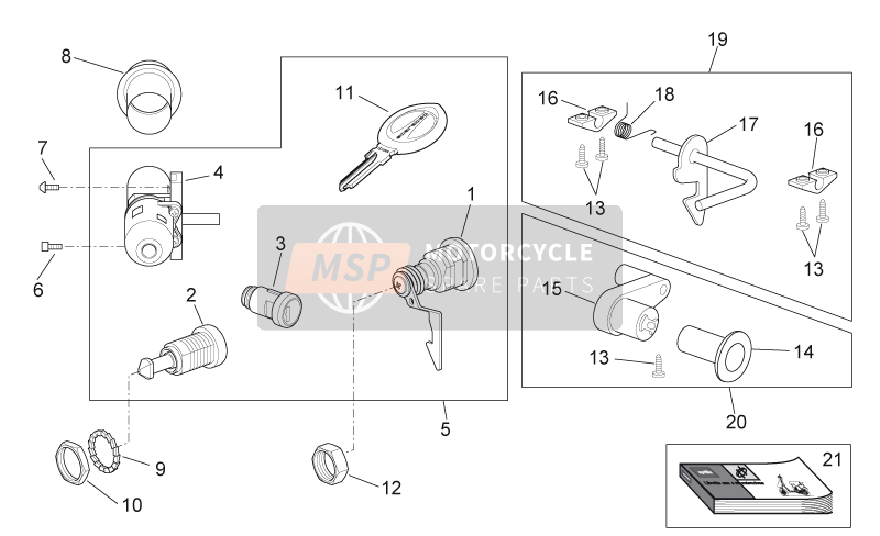 Decal - Lock hardware kit