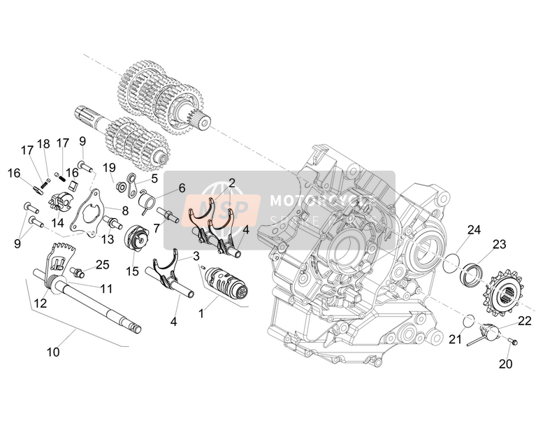 Gear box / Selector / Shift cam
