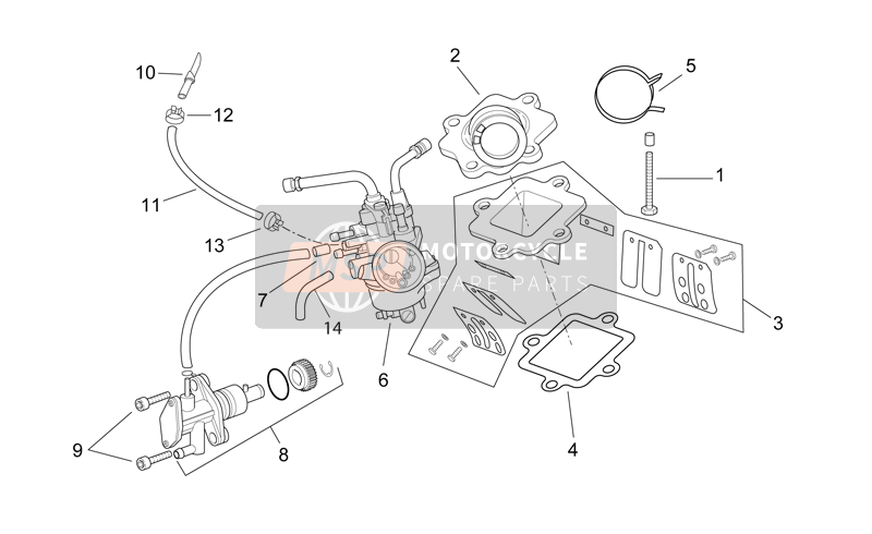 Carburettor - oil pump assy.