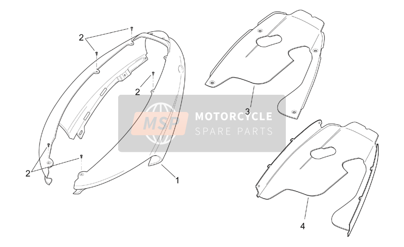 Aprilia SR 125-150 2000 Rear body - Rear fairing for a 2000 Aprilia SR 125-150