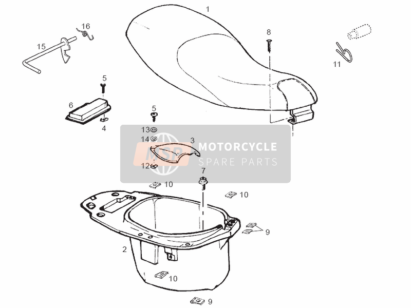 Selle - Casque Compartiment