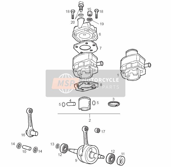 Conduire Arbre - Cylindre - Piston