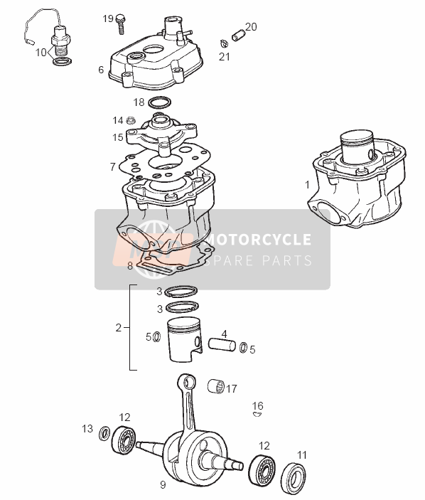 Drive shaft - Cylinder - Piston