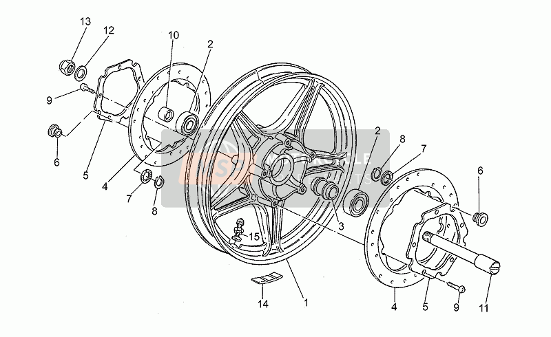 Front wheel, alloy