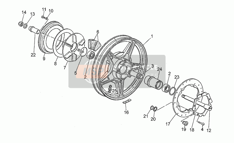 Rear wheel, alloy