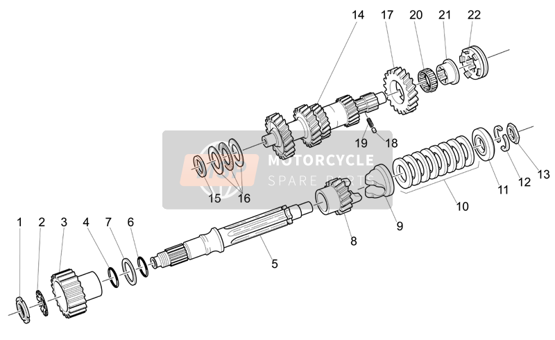 Primary gear shaft