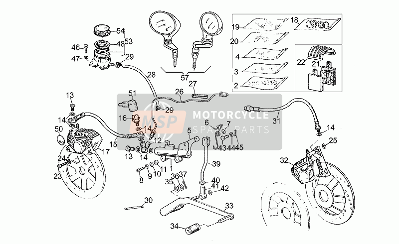 Front LH/rear brake system