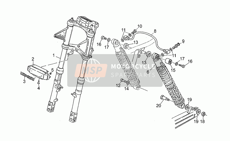Front/rear shock absorber
