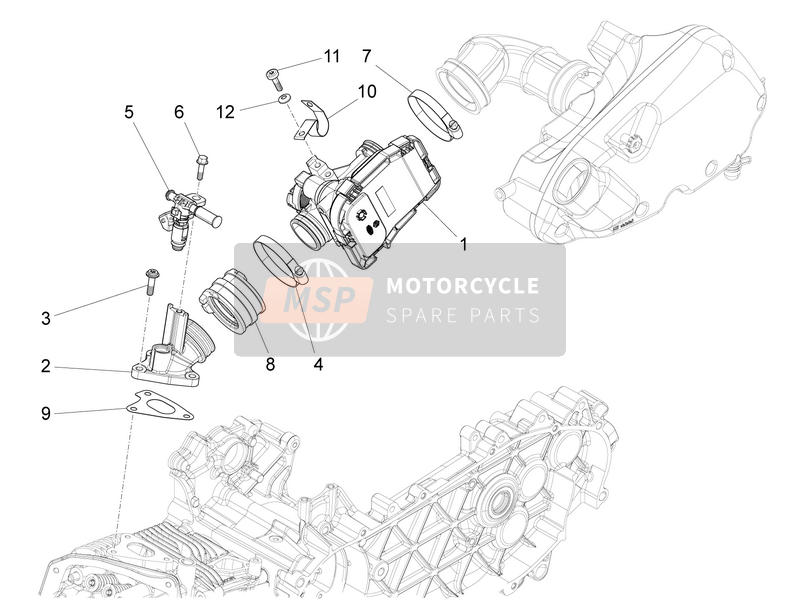 Throttle body - Injector - Union pipe