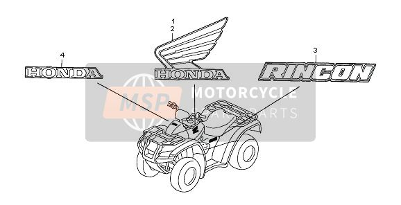 Honda TRX650FA FOURTRAX RINCON 2003 MARKE for a 2003 Honda TRX650FA FOURTRAX RINCON