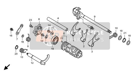 GEAR SHIFT DRUM & GEAR SHIFT FORK