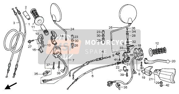 Honda XL1000V 2001 SCHALTHEBEL & KABEL for a 2001 Honda XL1000V