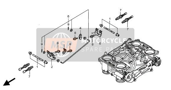 THROTTLE BODY (COMPONENT PARTS)