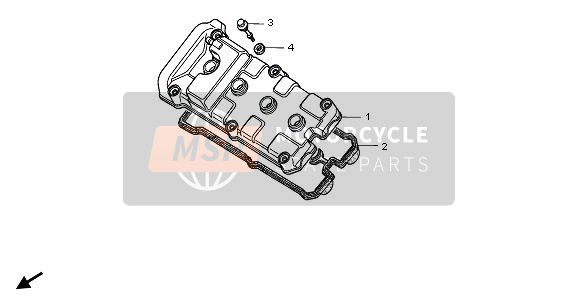 Honda CBR900RR 1996 E-1 CYLINDER HEAD COVER for a 1996 Honda CBR900RR