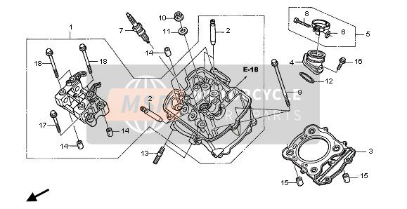 FRONT CYLINDER HEAD