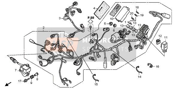 Honda XL700VA 2008 F-29 WIRE HARNESS for a 2008 Honda XL700VA