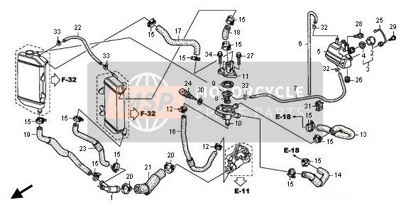 WATER HOSE & THERMOSTAT