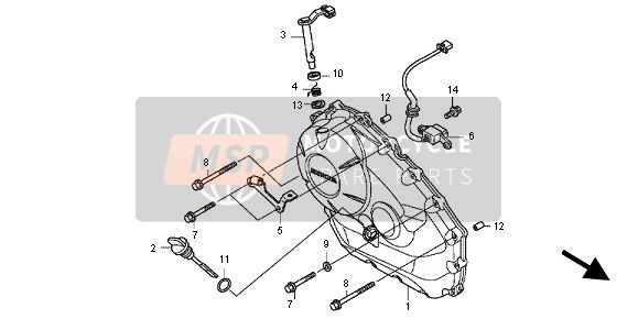 RIGHT CRANKCASE COVER