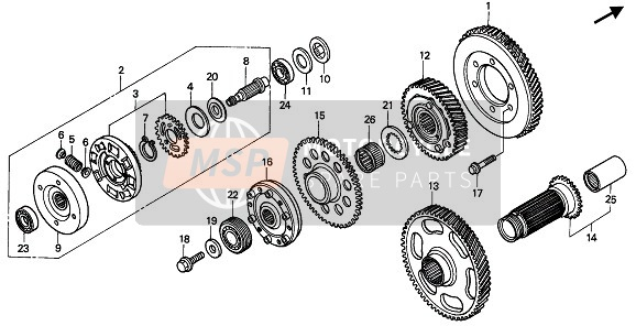 PRIMARY DRIVE GEAR