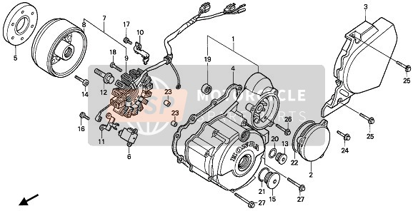 LEFT CRANKCASE COVER & GENERATOR